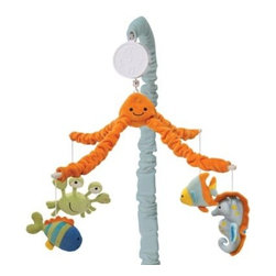 Lambs & Ivy - Lambs & Ivy Bubbles & Squirt Musical Mobile - A delightful octopus turns merrily on top of this musical mobile while his favorite fish swim below. Musical Mobile slowly turns to the music of Brahms Lullaby.