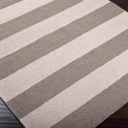 Gray and Ivory Striped Rug - Forget the Winnie the Pooh theme for your baby's nursery, and add this sophisticated rug instead. Then, when your baby is older, you can change out the bedding and furniture and continue to enjoy this versatile, timeless classic for years to come.