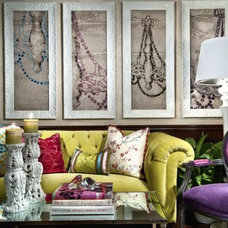 Eclectic Living Room by Duet Design Group