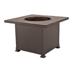 """36"""" Sq. Chat Height Santorini Iron Fire Pit - By OW Lee"""