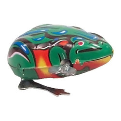 "Alexander Taron - Alexander Taron Collectible Tin Toy - Jumping Frog - 1.5""H x 2""W x 3""D - Tin hopping frog - key-wind - made in China. Recommended for adult collectors."