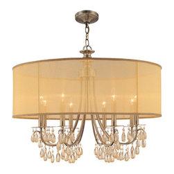 Crystorama Lighting Group - Crystorama Lighting Group 5628 Hampton 8 Light Drum Chandelier - Features: