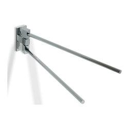 "Modo Bath - Glue L 312 Double Arm Swivel Towel Rail without Screws in Chrome 13.8"" - Glue L 312 Double Arm Swivel Towel Rail without Screws in Chrome"