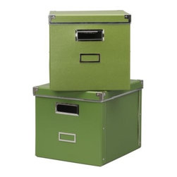 KASSETT Magazine Box with Lid - Kelly green storage boxes are such a stylish way to store your files, magazines, and inspiration photos!
