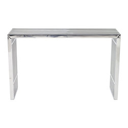 Modway - Modway EEI-779 Gridiron Console Table in Silver - Straight lines were once deemed the realm of strict logic. This conduit design accomplishes something quite profound. It blends linear components with a pleasantly stainless steel tubular effect. Modernism used to be about extremes. Wild shapes and patterns that don't dare resemble its predecessors. We've reached an age of maturity of sorts. We appreciate style, but all the more, we respect those designs that represent a blending of cultures. The Gridiron tubular stainless steel bench is famous not for its radical shape, but for the strategic transcendence that it provides. Gridiron is perfect for reception rooms, living and lounge areas, and any other place in need of transformation.