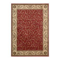 """Nourison - Nourison Somerset ST02 (Red) 7'9"""" x 10'10"""" Rug - In this distinctive collection, premium quality Opulon(tm) yarns are used to create a densely woven and strikingly luxurious pile. The fashion appeal of the color palette is warmly enhanced by the rich patina of the special fiber. A magnificent selection of both traditional and transitional designs ensures that the Somerset collection will offer the right choice for any decorating style."""