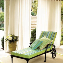 Indoor/Outdoor Sheers - I love the idea of having outdoor drapes to break up larger spaces.  Divide areas like the barbecue, patio, pool and sun room with drapes for a dramatic yet summery look.
