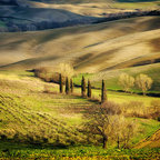 """Tuscan Countryside, 36"""" x 24"""" Framed Photographic Canvas Print - Tuscan Countryside, Tuscany, Italy."""