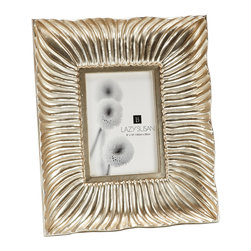 "Lazy Susan - Silver Shell Wave Wall Frame, 8 X 10 - -Use 8"" X 10"" Photo"