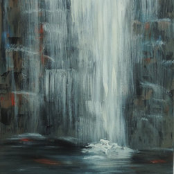 Cynthia Todd Art - Waterfall State Park - Original Painting - Waterfall State Park is a one of a kind original painting by Cynthia Todd.