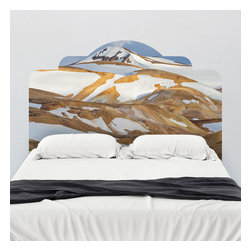 J. Paul Moore - Paul Moore's Kerlingarfjoll, Iceland Headboard Wall Decal - The treeless landscape of Iceland is the perfect backdrop for your winter snuggles with this adhesive headboard wall decal.