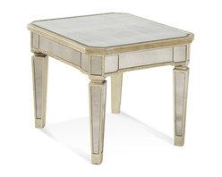 Bassett Mirror - Borghese Mirrored Rectangle End Table - Borghese Mirrored Rectangle End Table