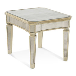 Bassett Mirror - Bassett Mirror Borghese Mirrored Rectangle End Table - Borghese Mirrored Rectangle End Table