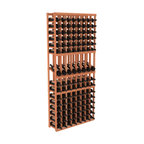 Wine Racks America - 8 Column Display Row Wine Cellar Kit in Redwood, (Unstained) - Make 8 of your best vintages a focal point in your wine cellar. This display rack can store up to 11 wine cases. Features our industry exclusive solid display trays with high-reveal. Our wine cellar kits are designed to emphasize durability and elegance. You'll be satisfied. We guarantee it.