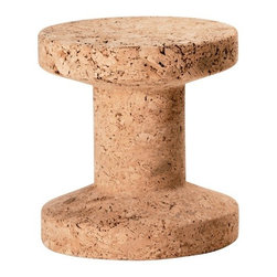 Vitra - Vitra Cork Stool - Cork makes a cozy perch for either your drink or your seat, and with these modern stools, you'll always have a clever surface. Lightweight and shapely, these stools will bring whimsy to any contemporary home.