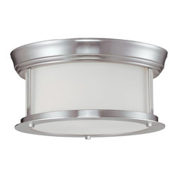 Z-Lite - Z-Lite Sonna Ceiling Light X-NB-01F2002 - This two light lamp, with a brushed nickel finish and matte opal glass, rests flush to the Ceiling Light and is a perfect fit in today's modern home.