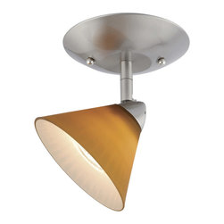Vaxcel - Milano Satin Nickel Mono Spotlight - Vaxcel ML-CCD004SN Milano Satin Nickel Mono Spotlight
