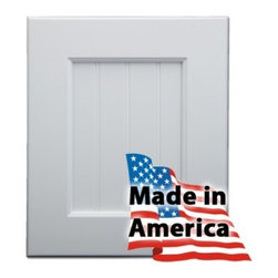 American Made RTA Cabinets Crestmore Premiere (Designer White Maple) Series - 100% Made to Order, 100% Made in the USA.