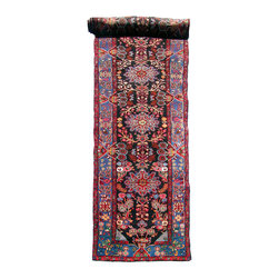 "T286 Persian Nahavand Long Runner - Persian Nahavand long runner. Size is 3'3"" x 15'"