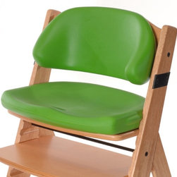 Bergeron By Design - Keekaroo Height Right Comfort Cushion Seat & Back Set - Lime Multicolor - 005263 - Shop for Cushions and Pads from Hayneedle.com! The Keekaroo Height Right Comfort Cushion Seat & Back Set adds squeezy-soft comfort to the versatile Height Right Wooden High Chair. Used with the High Chair's 3-point harness the Comfort Cushion holds kids in no-slip comfort happy and secure as a hug. The latex-free Lime-green seat is peel and tear-resistant made to last. Impermeable to fluids it's easy to clean too and includes anti-microbial protection. It used to be hard to get kids in a high chair. With Comfort Cushions they don't want to get out. About KeekarooKeekaroo high chairs and accessories were the brainchild of a father devoted to making better safer furniture for his own children. Rethinking size shape and support from the perspective of a parent owner Tom Bergeron tapped the creativity and insights of his own children to create the most innovative line of high chairs and accessories available. Each offers a more comfortable seating experience grows with your child and has an easy-to-clean surface for Mom and Dad.