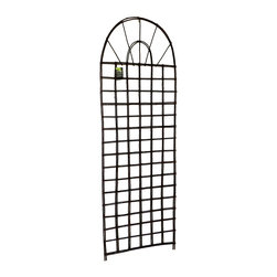 """Master Garden Products - Willow Round Top Lattice Trellis, 24""""W x 72""""H - Our self standing willow trellis is constructed with natural willow sticks. Use them for climbing vines or roses or just ornamental purposes. They will add a another dimension to your garden design. They come in different designs and sizes."""
