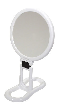 WS Bath Collections - Toeletta 398-3V Table Magnifying Mirror 3x in White - Toelleta 398-3V Table Magnifying Mirror in White
