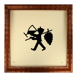 Kathy Kuo Home - Bacchus Silhouette Little Art Print - It's time to put your party shoes on — having Bacchus on your wall means you're up for a celebration. This charming silhouette print of the Roman god of wine and revelry is a perfect midcentury-inspired accent for your kitchen, bar or wine cellar. Its square frame and off-white paper make it a great addition to a wall of vintage prints.