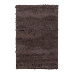"Surya - Surya Topography Hand Woven Brown Wool Rug, 18"" x 18"" - Designer Candice Olson is synonymous with great design, and she has done it again with the Topography collection for Surya. The subtle texture created using a hand woven technique in these ultra plush shag area rugs adds just the right touch of class.  Available in 7 colors this collection of rugs is made in India for beauty and comfort from 1% wool. Imported.Material: 100% WoolCare Instructions: Blot Stains"
