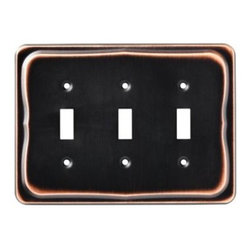 Liberty Hardware - Liberty Hardware 144419 Tenley WP Collection 6.93 Inch Switch Plate - A simple change can make a huge impact on the look and feel of any room. Change out your old wall plates and give any room a brand new feel. Experience the look of a quality Liberty Hardware wall plate. Width - 6.93 Inch, Height - 5.04 Inch, Projection - 0.28 Inch, Finish - Bronze W/Copper Highlights, Weight - 0.41 Lbs.