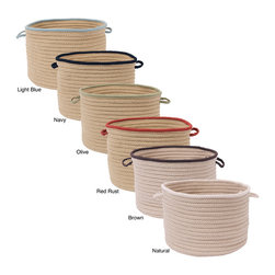 Colonial Mills - Light House Two-tone Utility Baskets - These two-tone baskets are constructed of durable polypropylene making them perfect for indoor or outdoor storage. These baskets are stain- and fade-resistant and have two easy-grip handles for transport.
