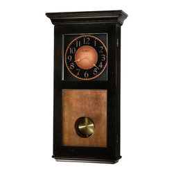 Howard Miller - Howard Miller Black Grandfather Wall Clock | CORBIN - 625383 Corbin