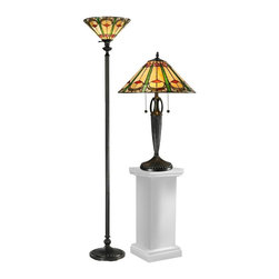 Dale Tiffany - New Set Dale Tiffany Lamps Amber Glass - Product Details