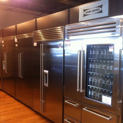 Rockville Showroom - All sizes and types of Built-in refrigeration bottom mount, side by side, stainless steel & custom wood panels