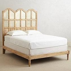 "Anthropologie - Paneled Villa Bed - Mango wood, metalHead: 72""H - 64""WFoot: 14""H - 64""WImported"