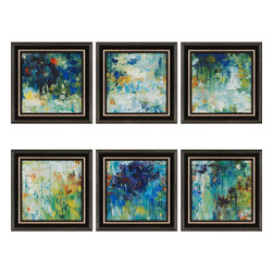Paragon - Falling Waters PK/6 - Framed Art - Each product is custom made upon order so there might be small variations from the picture displayed. No two pieces are exactly alike.