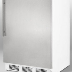 """Summit - AL750BI Series AL750BISSHV 24"""" Compact All-Refrigerator with 5.5 cu. ft.  Adjust - The AL750BISSHV features a Stainless steel door complete with sleek handle for modern elegance Its flexible design allows one to use this beautiful refrigerator as a built-in or freestanding refrigerator Additionally this compact refrigerator include..."""