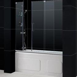 "DreamLine - DreamLine SHDR-19605810-04 Mirage Tub Door - DreamLine Mirage 56 to 60"" Frameless Sliding Tub Door, Clear 3/8"" Glass Door, Brushed Nickel Finish"