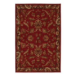 "Karastan - Knightsen Walnut Park Red Oriental 9'6"" x 12'11"" Karastan Rug (12112) - Relaxed traditional motifs updated with color palettes ranging from classic with heirloom appeal to progressive, spicy combinations, provide the Knightsen collection with fresh interpretations of timeless designs. The Knightsen collection of rugs is woven on Wilton looms in the U.S.A. of premium quality 2-ply nylon yarn to impart a soft hand and dense pile that is also durable and easy to clean."
