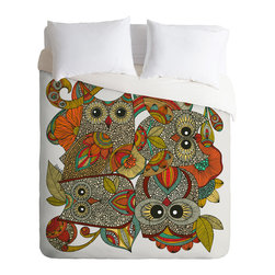DENY Designs - Valentina Ramos 4 Owls Duvet Cover - Turn your basic, boring down comforter into the super stylish focal point of your bedroom. Our Luxe Duvet is made from a heavy-weight luxurious woven polyester with a 50% cotton/50% polyester cream bottom. It also includes a hidden zipper with interior corner ties to secure your comforter. it's comfy, fade-resistant, and custom printed for each and every customer.