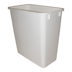 "Rev-A-Shelf - Rev-A-Shelf RV-20-6 20 Qt. Replacement Waste Bin - White - In need of a replacement 20 Quart garbage can? This Rev-A-Shelf RV-20-6 20 Quart Waste Bin in White can be used as a replacement for the RV-8 & RV-14 Series or can be used as a stand alone garbage can. Physical Specifications: 8-3/8"" W x 14-1/4"" D x 15"" H. Lids Sold Separately."