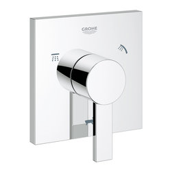 Grohe - Grohe 19591000 Allure 5-Port Diverter Trim - Allure 5-Port Diverter Trim belongs to Allure Collection by Grohe Purists will love the pared-down lines and open rectangular spout of GROHE Allure, delivering natural water experience – a pristine sensual experience. It is original and authentic, offering two different handle styles: a simple lever on the lavatory centerset, vessel trim and 3-hole Roman tub filler, and an elegant three-spoke design on the wideset lavatory and 5-hole Roman Tub Filler. Its unspoiled design is matches by two unique GROHE technologies: GROHE SilkMove, for unbeatable smooth performance, and GROHE Starlight for an intense shine. It is a covetable combination of craftsmanship and pristine style – a truly alluring product.  Valve (1)
