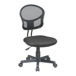 Office Star - Office Star Mesh Task Chair in Pink Fabric - Features: