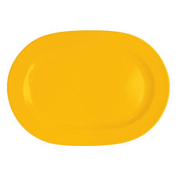 Waechtersbach - Set of 2 Oval Platters Fun Factory Buttercup - Attractive design and bright color come together effortlessly in this set of Fun Factory Buttercup Oval Serving Platters. Serve up meat, vegetables, fruit, and cheese. Essential at every feast, oval platters are the perfect choice for anyone who loves to entertain.