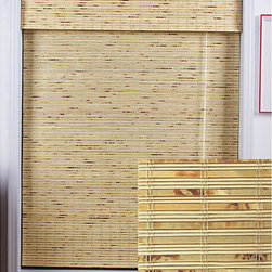 None - Petite Rustique Bamboo 74-inch Long Roman Shade - Cover your windows in style with these Roman style tan bamboo window shades. These natural looking window treatments are carefully woven to filter light and are constructed from real bamboo and other environmentally-friendly materials.