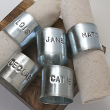 Contemporary Napkin Rings by Etsy