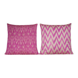 Mixed Silk Turkish Pillow - Turkish cushion collection designed with exotic and beautiful fabrics, combining the electric and sumptuous, mixing motifs, shapes and colors from many different cultures