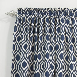 Chooty & Co. Nichole Rod Pocket Curtain Panel - Like you, the Chooty & Co. Nichole Rod Pocket Curtain Panel is inspired by clean lines and Moroccan patterns. A stunning way to frame your window, this rod pocket curtain panel has a crisp pattern in your choice of color. It comes in a variety of lengths, drapes beautifully, and fits up to a 2-inch rod. Hand or spot clean this all-cotton beauty.About Chooty & Co.A lifelong dream of running a textile manufacturing business came to life in 2009 for Connie Garrett of Chooty & Co. This achievement was kicked off in September of '09 with the purchase of Blanket Barons, well known for their imported soft as mink baby blankets and equally alluring adult coverlets. Chooty's busy manufacturing facility, located in Council Bluffs, Iowa, utilizes a talented team to offer the blankets in many new fashion-forward patterns and solids. They've also added hundreds of Made in the USA textile products, including accent pillows, table linens, shower curtains, duvet sets, window curtains, and pet beds. Chooty & Co. operates on one simple principle: What is best for our customer is also best for our company.