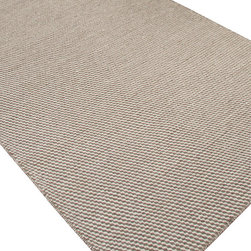 Jaipur Rugs - Flat-Weave Solid Pattern Wool Ivory/Gray Area Rug - Reminiscent of  Scandanavian blankets and Scottish knitwear , the Highlanders collection  is handwoven in natural undyed wool  yarns. Contrasting colours are created by utilizing  the natural wool color of the sheep. The rugs are reversible making them versatile as well as wonderfully  soft and comfortable. Origin: India