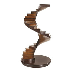 "Authentic Models - Authentic Models Spiral Stairs - Spiral Stairs accentuate the sophistication of your interior space and make a unique style statement. This cherry and birch model is the replica of 17th Century French apprentices studying geometrical drawing and design. Weighted base at the bottom ensures that it is a sturdy construction. An incredible piece of decoration for your living room and office, spiral stairs will be a perfect gift for architectural enthusiasts.     Made of cherry and birch wood   A great gift for students of architecture   Light and dark honey finish adds on to the classiness of this model   Dimension: 14.8"" (H) Inches  Diameter: 8.1"" Inches"