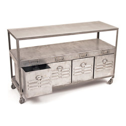 Steel Mill House Table - Mill House Table comes in a hand polished finish ,Perfectly styled to add charm to a room. Made from steel and has drawer to save your documents.Use this as an end table or a side table. This will be one of your favorite pieces in your home.